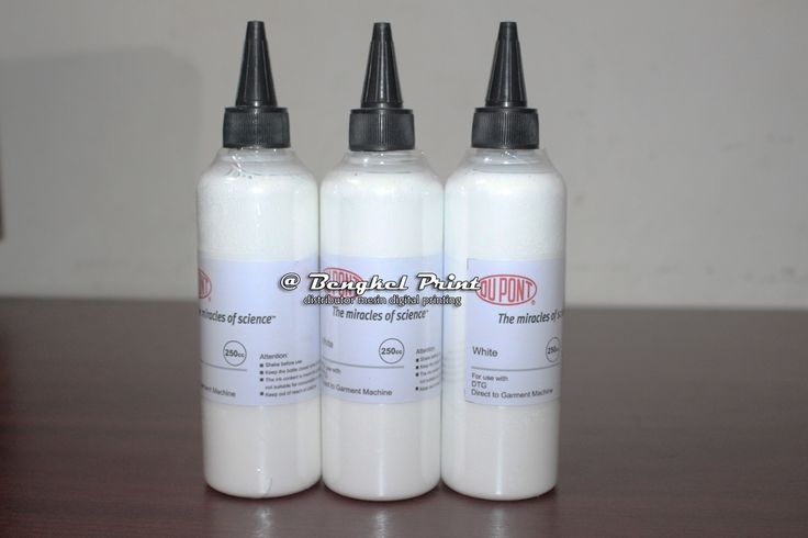 Jual Tinta Putih Textile DTG USA Dupont 250cc  read more.. http://www.indonetwork.co.id/product/tinta-putih-textile-dtg-usa-dupont-250cc-6532500
