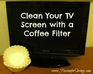 Great way to clean your TV Screen!