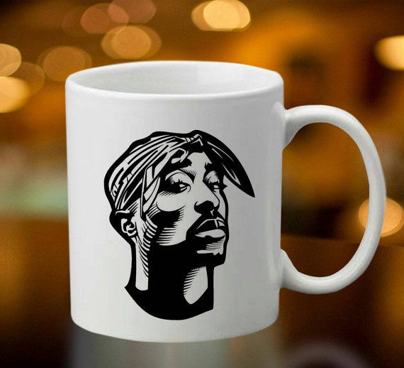 Tupac rapper 2pac 2 pac mug coffee tea mug by oredodesignart coffee mug pinterest mugs and - Two and a half men coffee mug ...