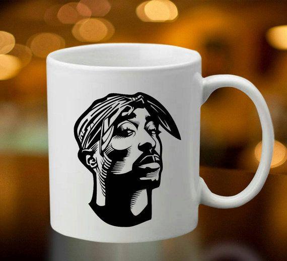 Tupac rapper 2pac 2 pac mug coffee tea mug by oredodesignart coffee mug pinterest mugs and - Two and a half men coffee mug ...