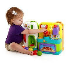 Bright Starts Get Cookin' Kitchen #HottestToys ♥ Best Christmas Toys for 1 Year Old Girls - The Perfect Gift Store
