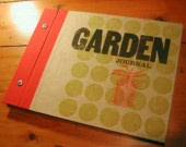 Handmade Letterpress Garden Journal from DoublemRanchDesign