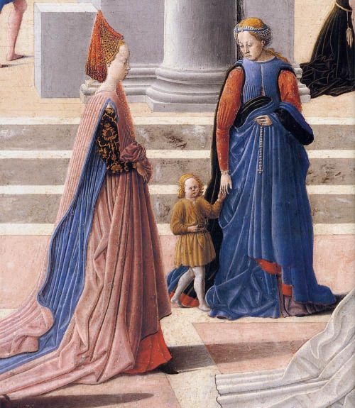 1467 Fra Carnevale - The Birth of the Virgin (details)