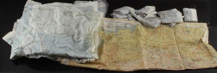 46 Copias de los mapas AAF C-52 y C-53 de Japón, el mar del Sur de China, el mar de China Oriental y Corea de la Segunda Guerra Mundial.