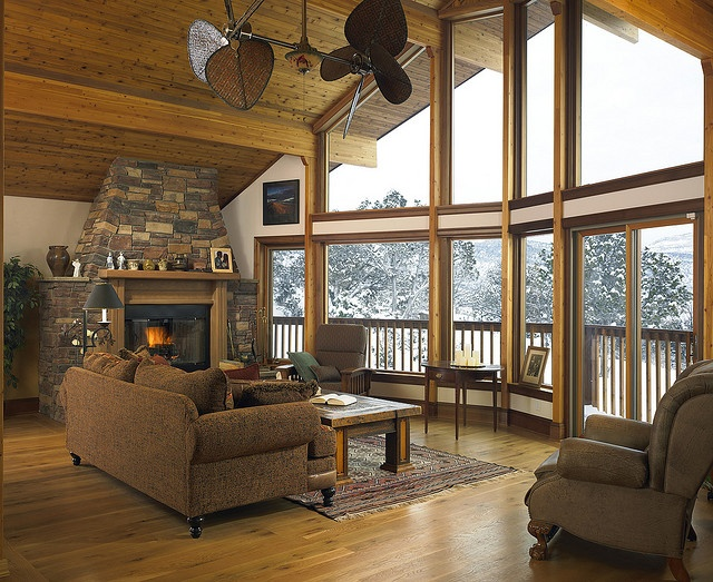 I would love to sit here every morning... Great Room of a Lindal Cedar Home in Colorado. by Lindal Cedar Homes, via Flickr