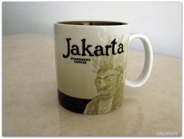 Jakarta Starbucks city mugs, Starbucks mugs, Mugs