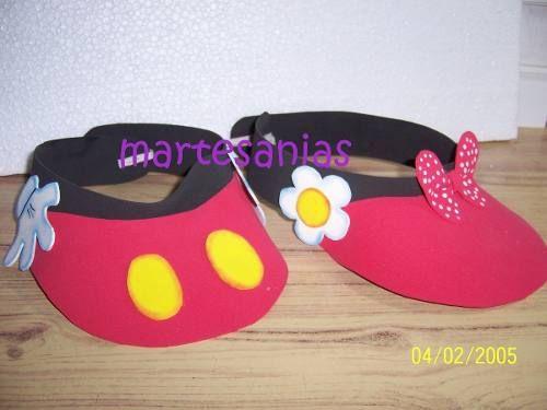 Moldes de viseras de Minnie Mouse - Imagui