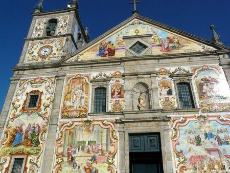 Church façade, Válega, Portugal