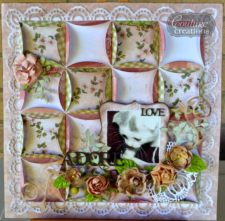 Couture Creations: Adore by Mel Connell | #couturecreationsaus #scrapbooking #vintagerosegarden #ornamentallacedie #deocorativedie #pets