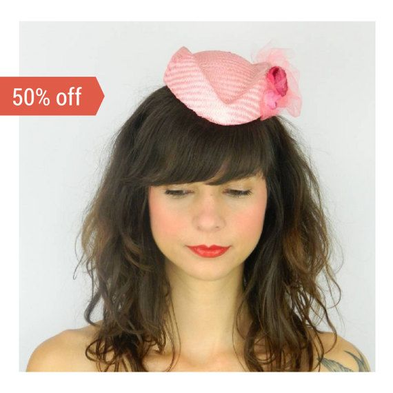 SALE Pillbox Hat Fascinator Headpiece with Kitsch by ElleSantos