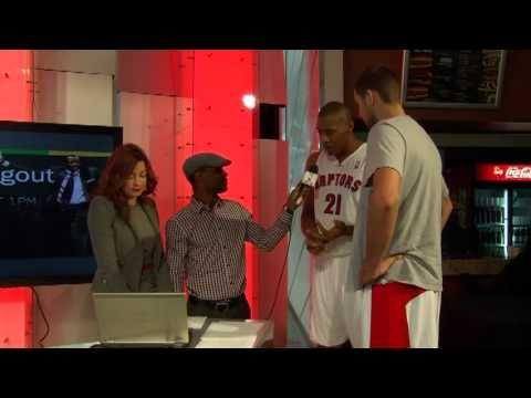 Raptors Media Day: Magloire and Valanciunas