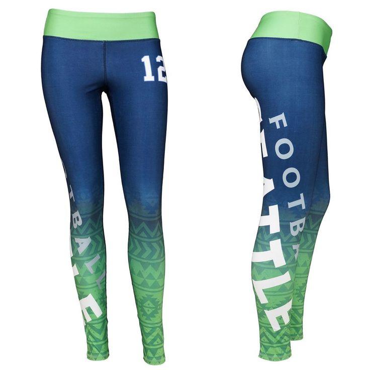Seattle 12 Fan Woman's Seattle Football Sublimation Leggings #ZONE12SPORTS #SeattleSeahawks