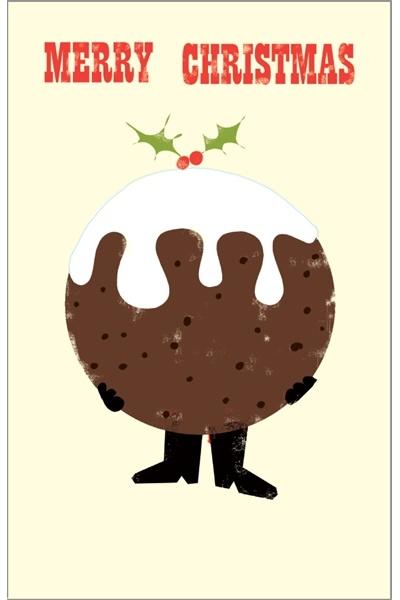 Christmas pudding card.