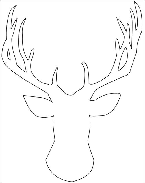 reindeer head template-cut scrapbooking sheet and frame for living room