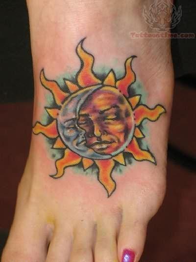 Hot Sun Rays Tattoo On Foot #tattoos – Stylendesigns.com!