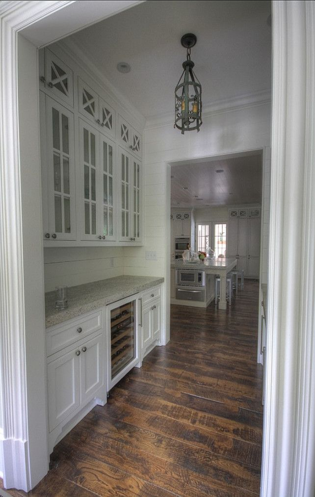 <Butler's Pantry> #ButlersPantry #Interiors I love the wood floors/ all white/ natural light!!!