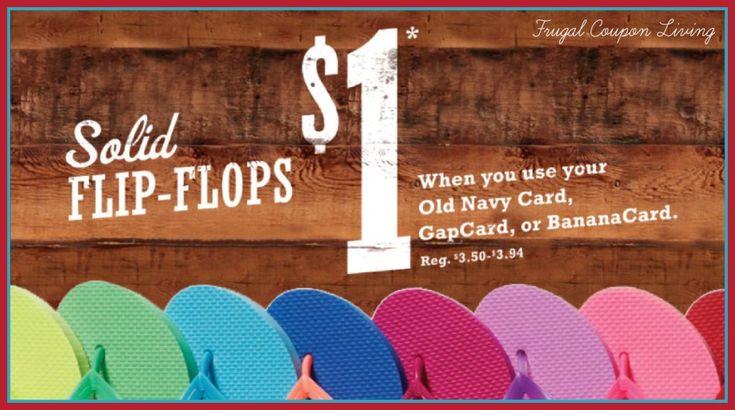 $1 Old Navy Flip Flops 2014 Sale #oldnavy #flipflops #sale