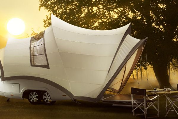 Une tente-caravane de luxe inspirée de l'opéra de Sydney