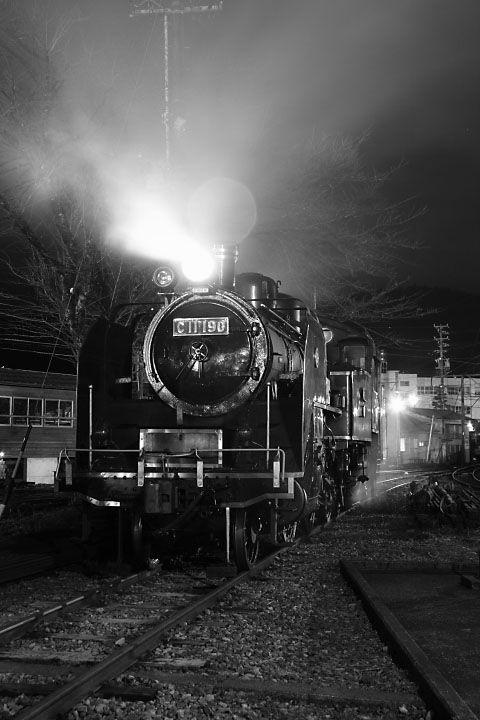 大井川鐵道 蒸気機関車C11_190のナイトトレイン!
