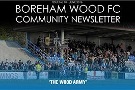 Boreham Wood FC Community News Letter