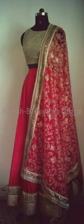 Red lehenga #indianembroidery #indianfashion #indianbride