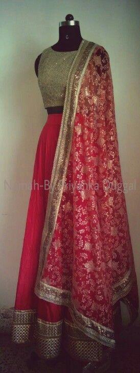 Red lehenga #indianembroidery #indianfashion #indianbride