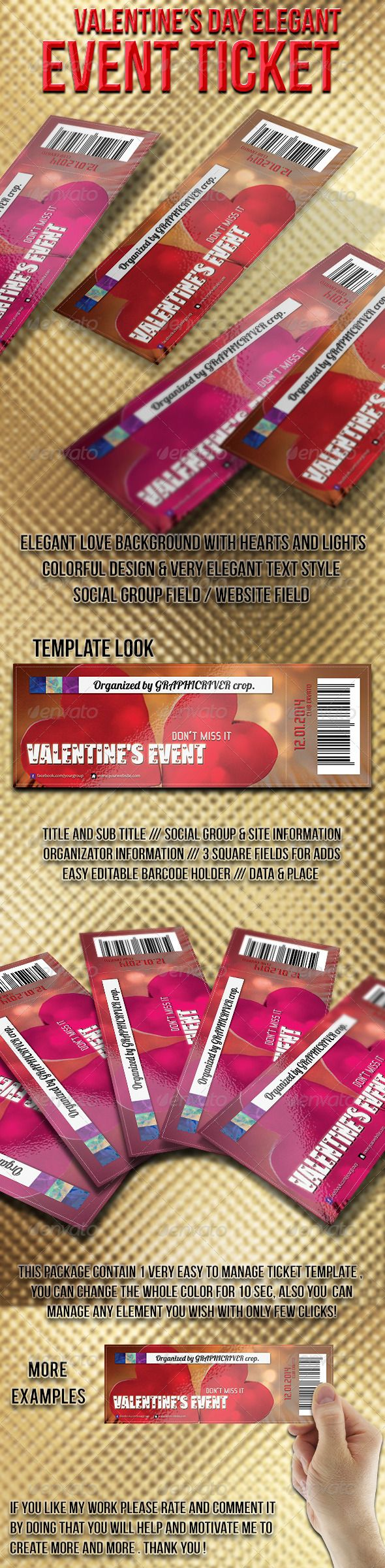 graphicriver valentine night party flyer