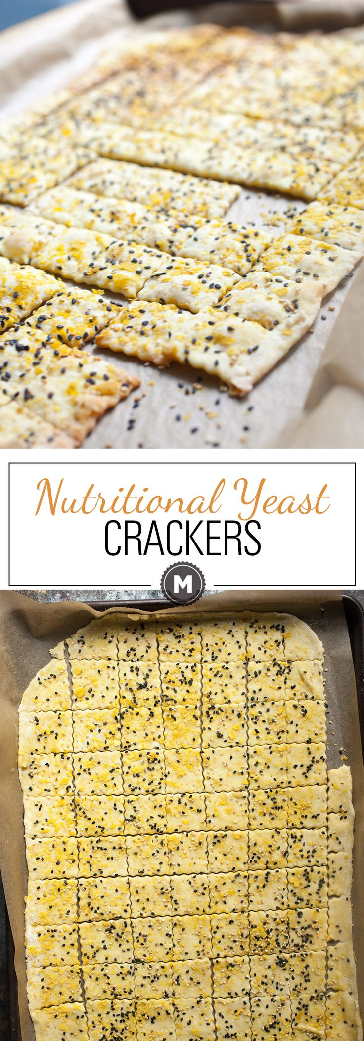 Can't-Stop Crackers: These nutritional yeast crackers are savory, crispy, and SO addictive. Make a double batch because they going to go fast. As in, once you start eating them, you won't stop! | macheesmo.com