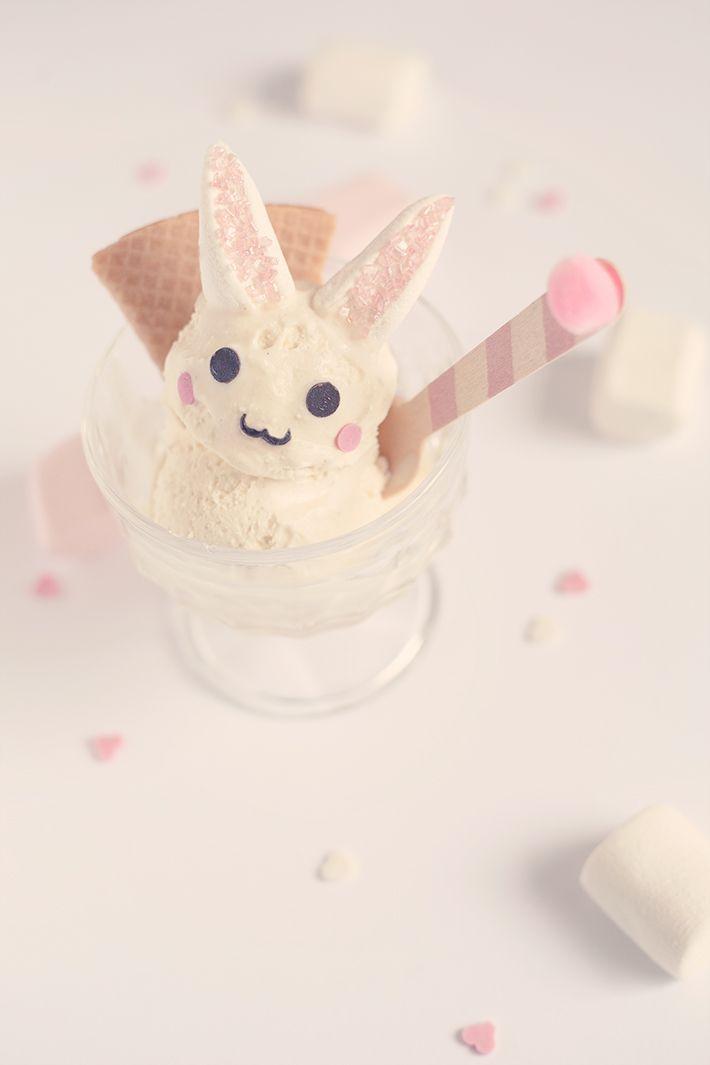 Une glace en forme de lapin!