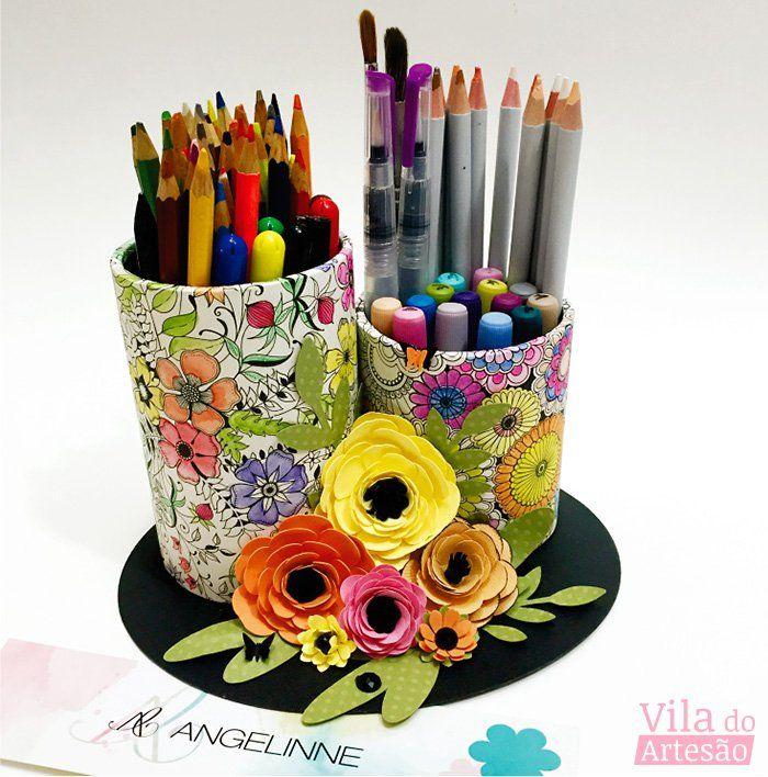 Desenhos de colorir para adultos podem e devem virar objetos decorativos. Veja que ideia show apresentamos neste passo-a-passo e faça logo o seu.