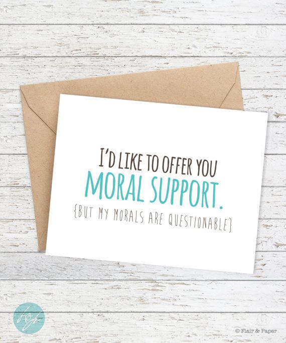 I Love You Card Boyfriend Card Awkward Card Snarky Card: Funny Card, Friend Card, How To Say I Care About You