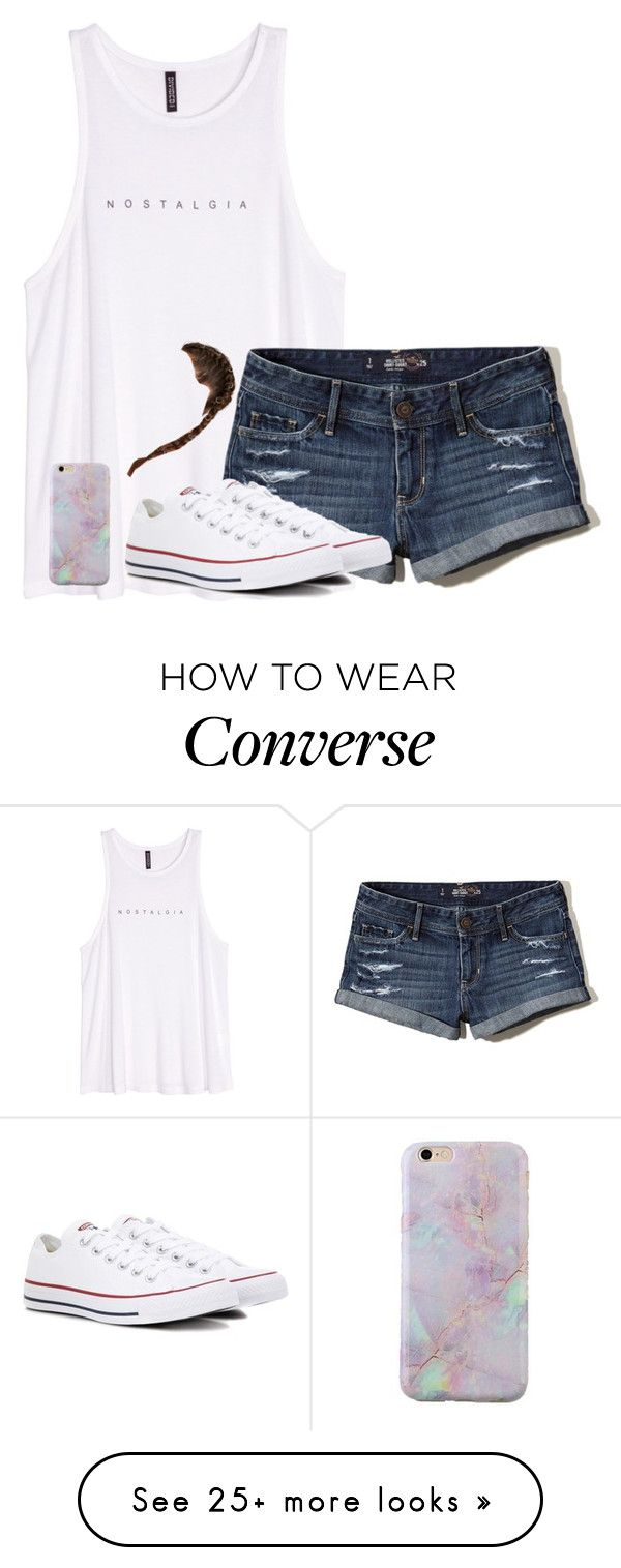 """""""Untitled #2638"""" by laurenatria11 on Polyvore featuring H&M, Hollister Co. and Converse"""
