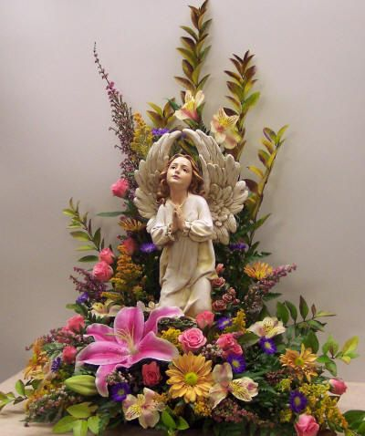 Sympathy Funeral Flowers - Angel Arrangement by Monroe Cty Flowers ...