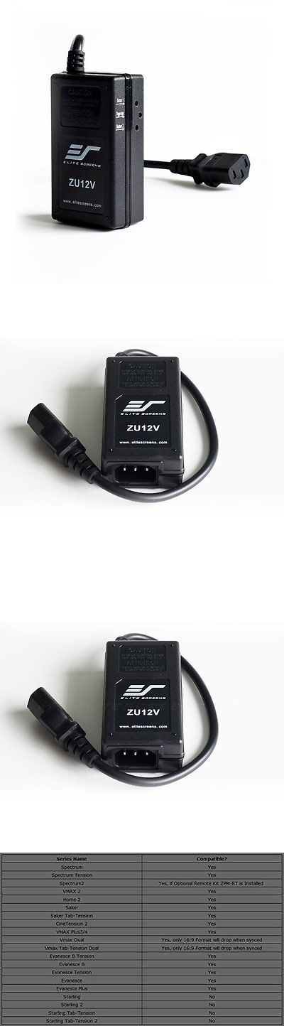Other TV Video and Audio Parts: Elite Screens Inc. Zu12v Universal Wireless 5-12V Projector BUY IT NOW ONLY: $63.69