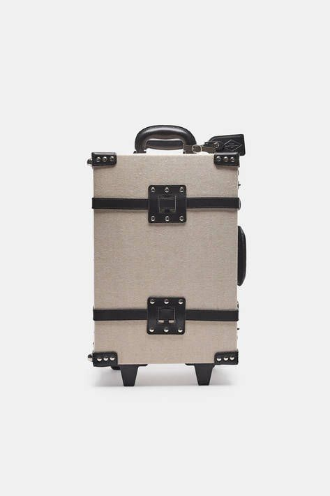Inspired by travel and exploration, Steamline Luggage is a collection of beautifully finished, vintage-style cases. The Editor series is handcrafted of natural linen-covered fiberboard atop a sturdy aluminum frame, with black leather straps and trim accented by silver-toned metal hardware. Weighing in at under eight pounds, this two-wheeled carry-on meets the cabin luggage size requirements of nearly all airlines and includes TSA-approved locks. The striped fabric lining has zippered…