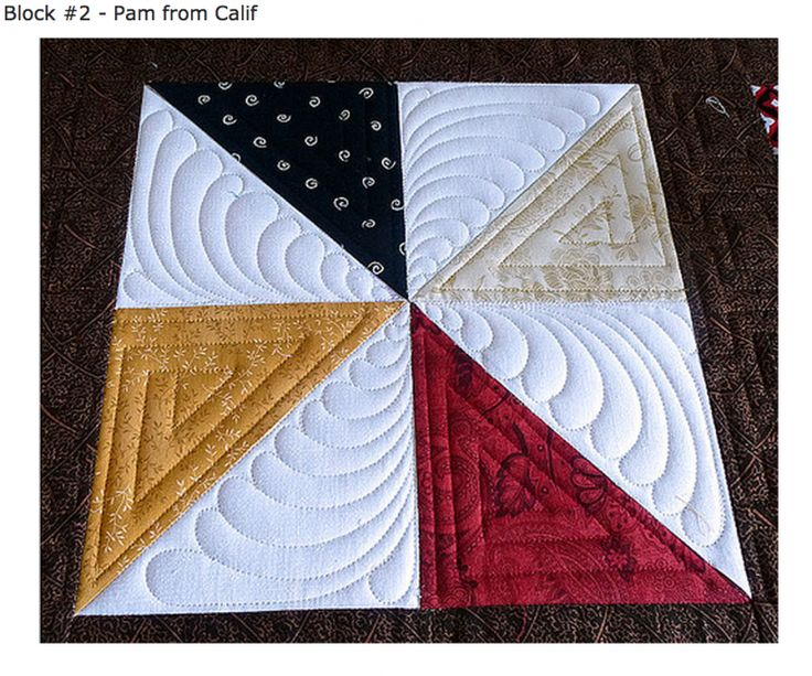 Another quilting design to use on pinwheels.