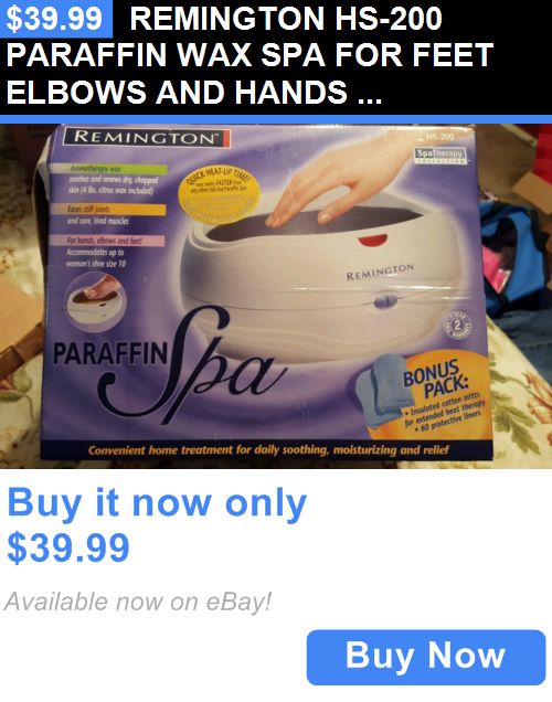 Spas Baths and Supplies: Remington Hs-200 Paraffin Wax Spa For Feet Elbows And Hands New In Box BUY IT NOW ONLY: $39.99
