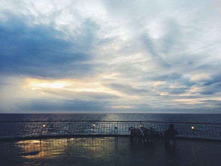 Crossing the channel. #england #france #ferry #sunset #travel #wanderlust