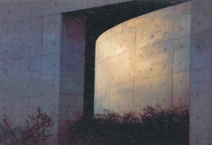 Exterior do Templo Shingonshu Honpukuji ou Templo das Águas, na ilha Awaji, Japão. Arquiteto: Tadao Ando.