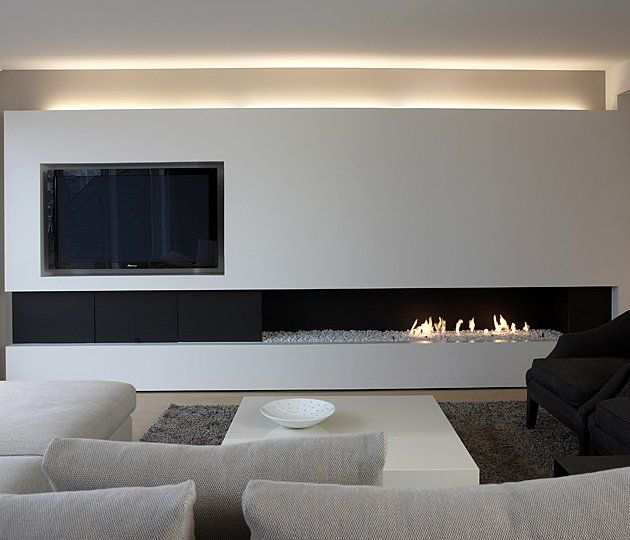 20 best modern fireplaces images on pinterest entertainment centers architecture and home decor - Deco moderne open haard ...