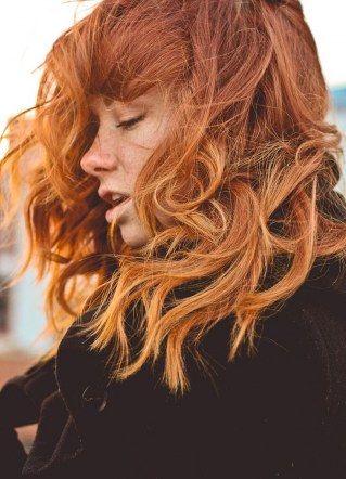 Haare total orange
