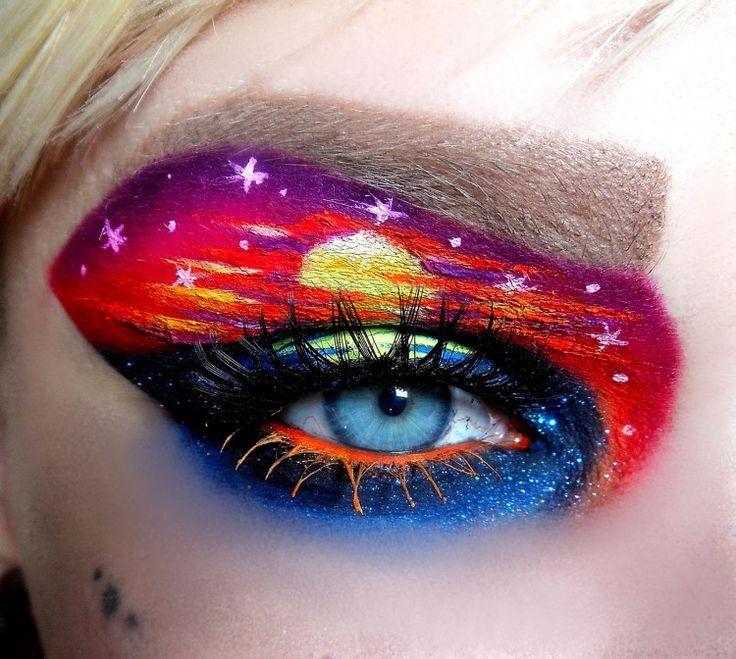 Sunset Inspired Fantasy Eye Makeup by Hanna Majava!