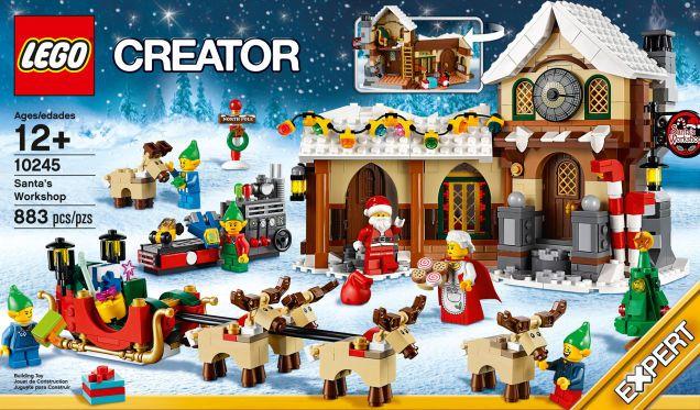 Santa's Workshop (Item: 10245), part of the LEGO Winter Village collection. #legoWinterVillage