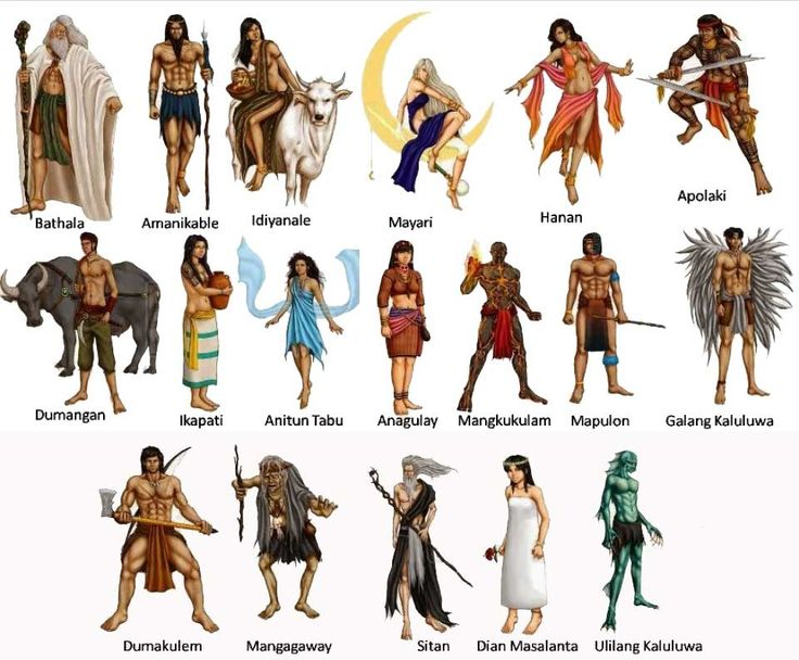 The stories of ancient Philippine mythology include deities, creation stories, mythical creatures, and beliefs. List of gods in Philippine Mythology.