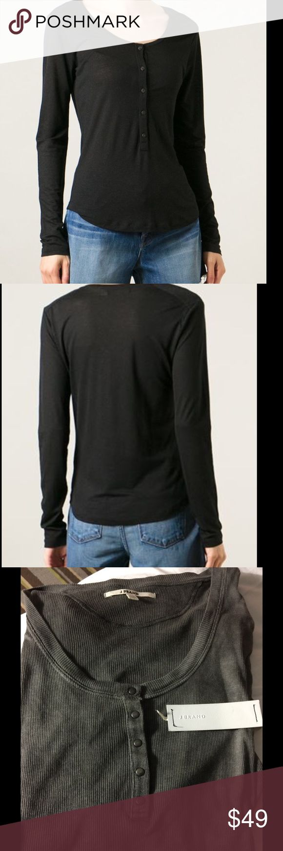J Brand ribbed henley top charcoal nwt Charcoal ribbed henley top nwt J Brand Tops Tees - Long Sleeve