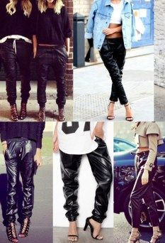 First Light jagger leather trackies $99 | threads and style