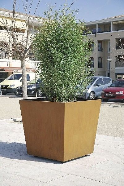 Bloembakken, haagbakken, boombakken, plantenbakken in cortenstaal (verkrijgbaar op maat)