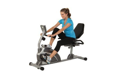 Best  Exerpeutic Heavy Duty Magnetic Recumbent Bike with Pulse
