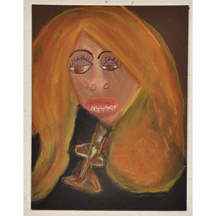 Dionne Canzano  Ann Margaret 2013 pastel on paper 30 x 23 cm © Copyright the artist Represented by Arts Project Australia, Melbourne