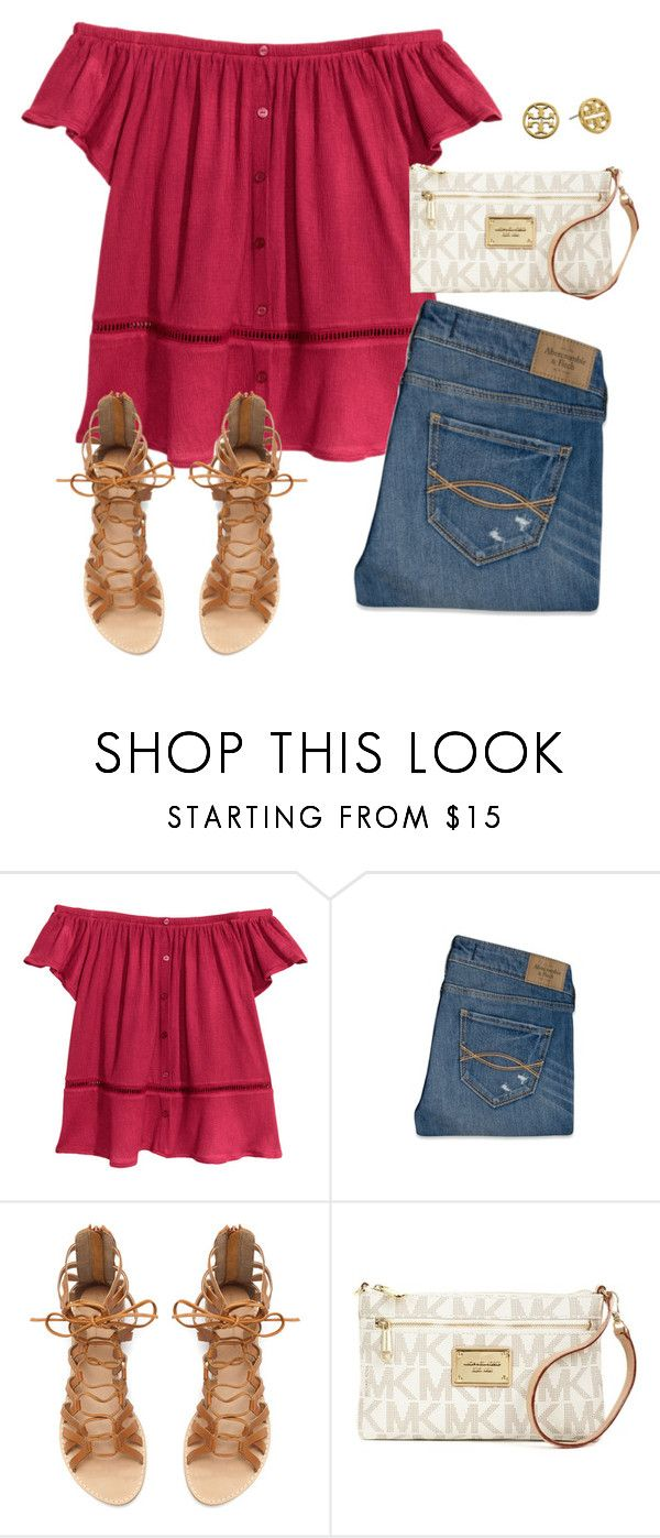 oh happy day by pretty-girl-prep ❤ liked on Polyvore featuring Abercrombie  Fitch, Zara, Michael Kors and Tory Burch